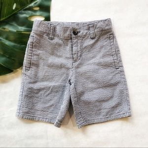 Janie and Jack Boys Blue Check Shorts Size 4